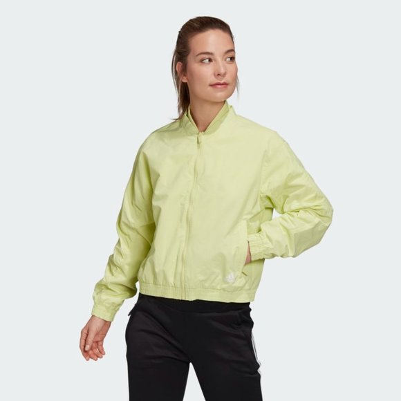 New Women's Adidas Woven Bomber Jacket (FS7188)